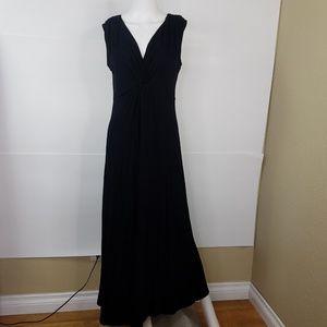 SOMA Black Maxi Dress Medium V-Neck Sleeveless